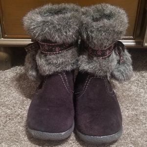 Girl's Brown Snow Boots